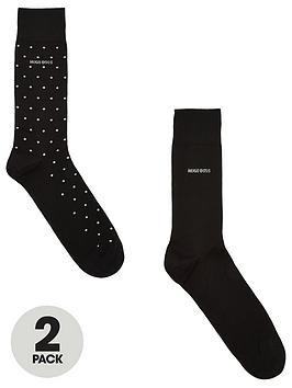 boss-2-pack-of-sparkle-socks-black
