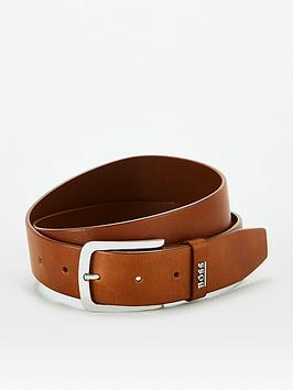 boss-jor-logo-leather-belt-tan