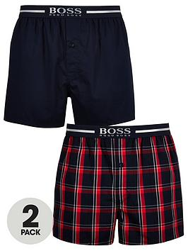 boss-2-pack-woven-boxers-navy-red