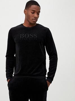 boss-velour-logo-lounge-top-black