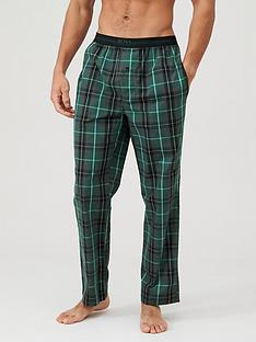 boss-woven-checked-lounge-pants-green