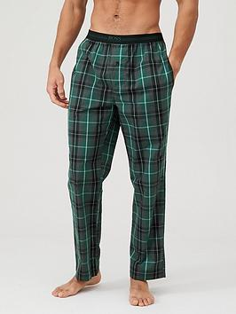 boss-woven-checked-lounge-pants-green