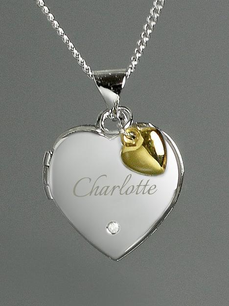 love-diamond-personalised-sterling-silver-diamond-set-heart-locket-necklace-with-9ct-gold-heart-charm