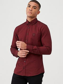 boss-mabsoot-slim-fit-long-sleeved-shirt-medium-red