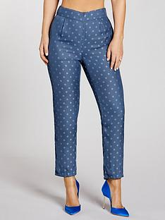 kate-wright-spot-jacquard-slim-leg-trousers-teal