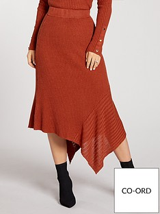 kate-wright-asymmetrical-rib-knitted-skirt-co-ord--tobacco