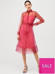 v-by-very-organza-tie-waist-dress-pink