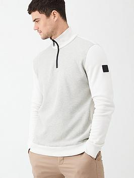 boss-zolight-half-zip-sweatshirt-whitegrey