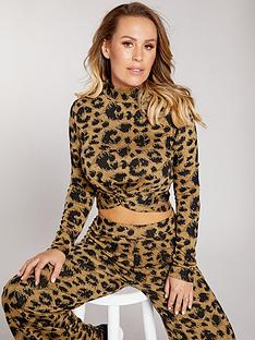 kate-wright-jacquard-crop-top-co-ord-animalnbsp