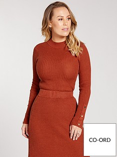 kate-wright-ribbed-knitted-top-co-ord-tobacco