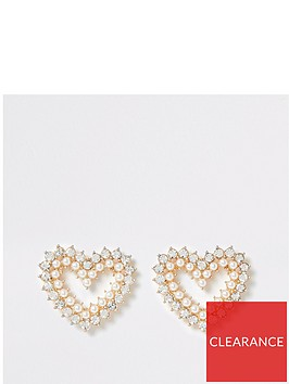 river-island-river-island-pearl-and-diamante-heart-earrings-gold