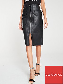 river-island-river-island-pu-zip-through-pencil-skirt-black