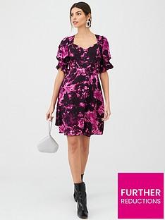 v-by-very-printed-dress-black