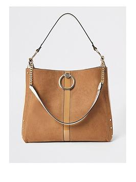 river-island-ring-front-slouch-tan