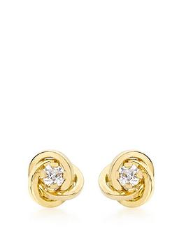 love-gold-9ct-gold-cubic-zirconia-knot-stud-earrings