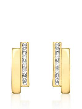love-gold-9ct-gold-cubic-zirconia-double-bar-stud-earrings