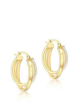 love-gold-9ct-gold-stardust-3mm-double-loop-creole-hoop-earrings