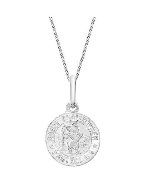 love-gold-9ct-white-gold-st-christopher-pendant-necklace