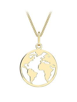love-gold-9ct-gold-earth-cut-out-pendant-necklace