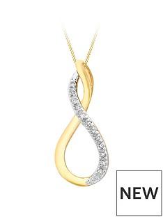 love-diamond-9ct-gold-diamond-set-infinity-pendant-necklace
