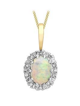 love-gem-9ct-gold-white-opal-diamond-halo-pendant-necklace