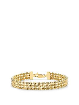 love-gold-9ct-gold-triple-layer-rope-chain-bracelet