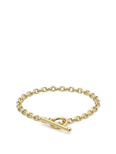 love-gold-9ct-gold-t-bar-belcher-chain-bracelet