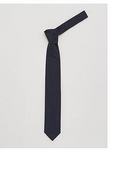 hugo-spotted-neck-tie-navy