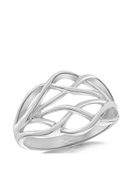 the-love-silver-collection-sterling-silver-interlinked-crossover-ring