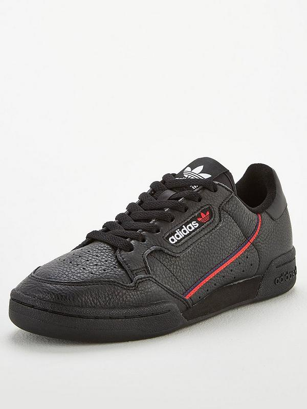 Aliviar imagen Vista  adidas Originals Continental 80 - Black/Red/Blue | very.co.uk