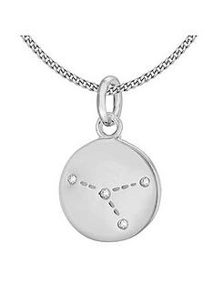 the-love-silver-collection-sterling-silver-cubic-zirconia-constellations-disc-pendant-necklace