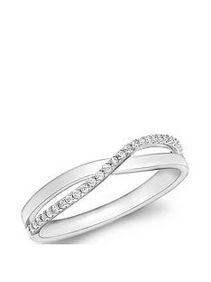 love-gold-9ct-white-gold-cubic-zirconia-crossover-ring