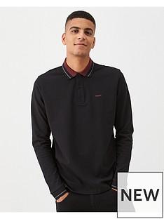 hugo-donol201-long-sleeved-polo-shirt-black