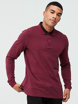 hugo-donol-201-long-sleeved-polo-shirt-burgundy