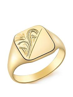 love-gold-9ct-gold-square-engraved-signet-ring