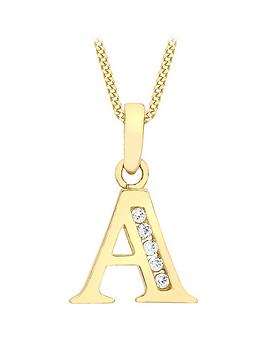 love-gold-9ct-gold-cubic-zirconia-initial-pendant-necklace