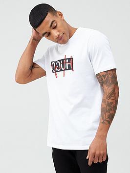 hugo-dicagolino201-script-logo-t-shirt-white