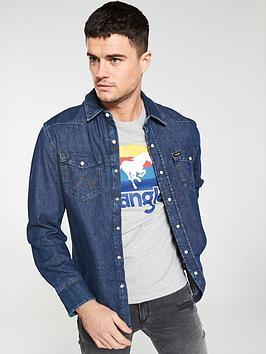 wrangler-iconstrade-27mw-denim-shirt-dark-blue