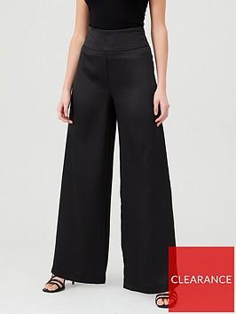 michelle-keegan-satin-wide-leg-trousers-black