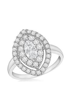 the-love-silver-collection-sterling-silver-cubic-zirconia-marquise-halo-dress-ring