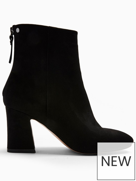 8f3a5865ba6 Topshop Belize Zip-Back Ankle Boots - Black
