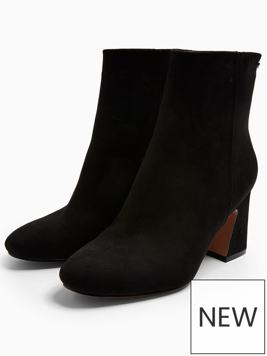 52c1a5c429f Topshop Belize Zip-Back Ankle Boots - Black