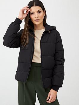 v-by-very-short-rib-panel-padded-jacket-with-hood-black