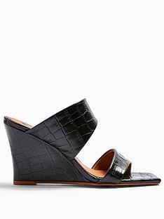 topshop-rellik-double-strap-leather-mule-wedges-black