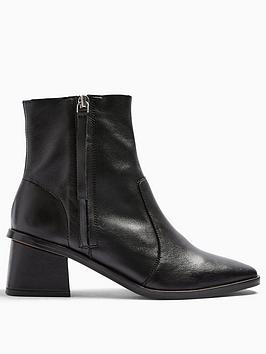 topshop-topshop-margot-side-zip-leather-ankle-boots-black