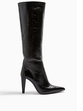 topshop-taylor-cone-heel-leather-knee-high-boots--nbspblack