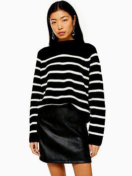 topshop-mono-stripe-knitted-jumper-blackwhite