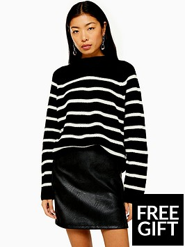 topshop-topshop-mono-stripe-knitted-jumper-blackwhite