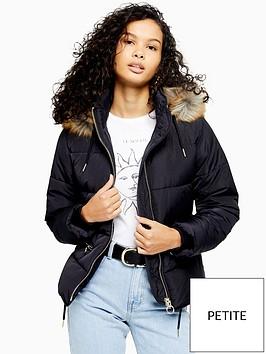 topshop-topshop-petite-faux-fur-padded-jacket-navy