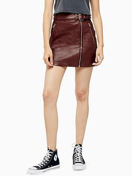 topshop-hardware-detail-pu-mini-skirt-burgundy